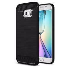 ขาย For Samsung Galaxy S6 Edge Carbon Fibre 2In1 Fashion Premium Brushed Armor Soft Tpu Back Cover Cell Phone Case Non Slip Shockproof Intl ถูก