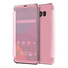 ขาย ซื้อ สำหรับ Samsung Galaxy S6 ขอบบวกกระจกมองเห็นได้ชัดเจนกรณีโทรศัพท์สมาร์ทพลิกสำหรับ Samsung Galaxy S6 ขอบบวกกันกระแทกฝาครอบป้องกันกลับเต็มหนังเทียมหนัง จีน