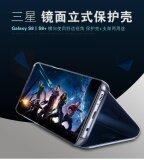 ขาย สำหรับ Samsung Galaxy S6 ขอบบวก หรูหราชุบกระจกสมาร์ทดูใสกรณีฝาครอบมือจับหนังหนังเทียมสำหรับ Samsung Galaxy S6 ขอบบวก ออนไลน์ ใน จีน