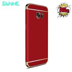 ทบทวน สำหรับ Samsung Galaxy S6 ขอบบวก S6 ขอบ หรูหรา 3 ใน 1 เกราะยากพีซีบางปกคลุมปกคลุมด้านหลังป้องกันกรณี 5 7 นานาชาติ Unbranded Generic