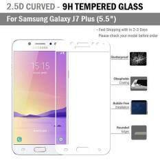 ราคา ฟิล์มกันรอย กระจก นิรภัย เต็มจอ For Samsung J7 Plus J7 สีขาว Premium Tempered Glass 9H 2 5D White Samsung ใหม่