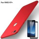 ทบทวน สำหรับ Vivo V7 V7 Plus Hard พลาสติกกันกระแทกป้องกันลายนิ้วมือโทรศัพท์ปกคลุมกรณีป้องกันด้วยความคุ้มครองเต็มรูปแบบ Anti Scratch Galss นิรภัยป้องกันหน้าจอฟิล์ม Unbranded Generic