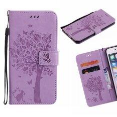 ซื้อ สำหรับ Wiko Pulp 3 กรัม 4 กรัม หนังเทียมหนังโทรศัพท์มือถือกรณีพับกระเป๋าสตางค์พลิก ต้นไม้ที่น่ารัก นานาชาติ จีน
