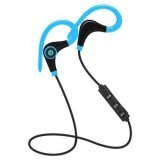 Four Season Big Sale Bluetooth Wireless Stereo Earbuds Ipx4 Sweatproof Sport Earphones With Mic Secure Earhook For Iphone Tablet Android Phones Color Blue Intl เป็นต้นฉบับ