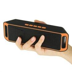 ทบทวน ที่สุด Four Season Big Sale Wireless Bluetooth Speaker Usb Flash Fm Radio Stereo Mp3 Player Support Tf Card Color Orange Intl