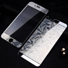 ส่วนลด หน้า ย้อนกลับ 3D กระจกแก้วสีเพชรอารมณ์กันรอยหน้าจอสำหรับ Iphone 6 Plus 6S Plus เงิน จีน