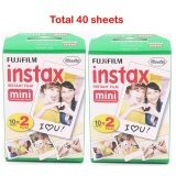 ขาย Fuji Fujifilm Instax Mini 8 Film Blanc 2 Packs 40 Sheets Film For 7S 8 90 25 55 Share Sp 1 Instant Camera Intl Unbranded Generic เป็นต้นฉบับ