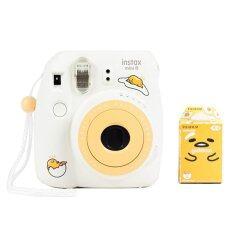 Fujifilm กล้องโพราลอยด์ รุ่น Instax Mini 8 Gudetama (สีขาว) + แผ่นฟิล์ม Instax Mini Gudetama 10 แผ่น (คละแบบ/คละสี).