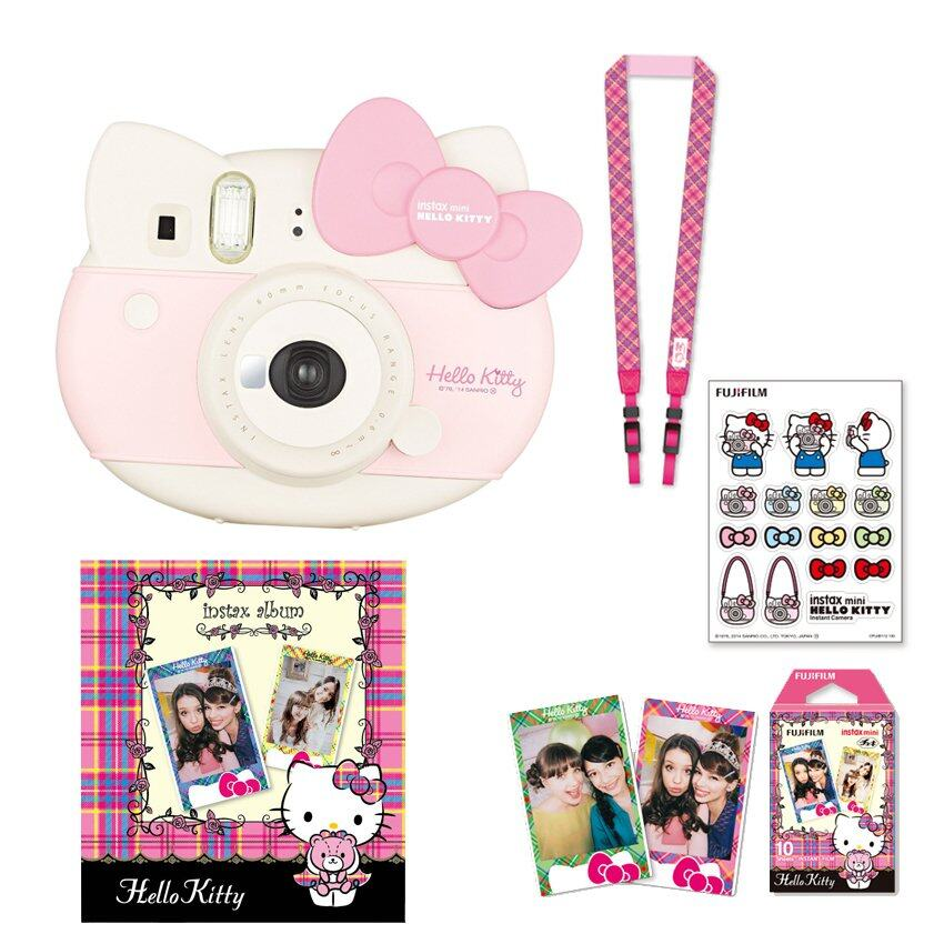 Fujifilm Instax Mini 8 Hello Kitty (Red) + Film Kitty 10 sheets + Kitty Stickers + Strap