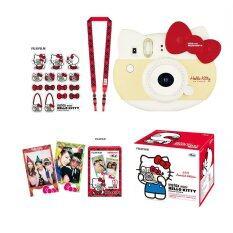 Fujifilm Instax Mini 8 Hello Kitty (red) + Film Kitty 10 Sheets + kitty Stickers + Strap.
