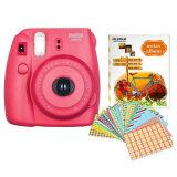 Fujifilm กล้องอินสแตนท์ รุ่น Instax Mini 8 Raspberry อัลบั้มรูป 1 เล่ม คละแบบ สี Sticker Frame 10 แผ่น คละแบบ สี ใน ไทย