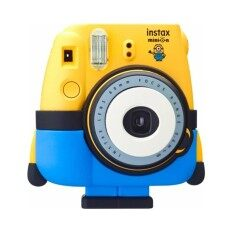 Fujifilm กล้องอินสแตนท์ รุ่น Mini 8 ลายมินเนียน มาพร้อมกางเกงขาตั้งกล้องซิลิโคนและฝาปิดหน้าเลนส์  +   Fujifillm แผ่นฟิล์ม Instax Mini Pack 10 แผ่น.