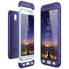 ป้องกันร่างกายเต็มรูปแบบสำหรับ Samsung Galaxy J7 (2017)/j7 2017 ป้องกัน - ลื่นยาก 3 ใน 1 สีดำ.