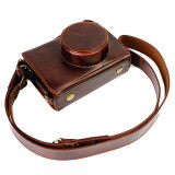 Full Protection Bottom Opening Version Protective Pu Leather Camera Case Bag With Tripod Design Compatible For Fuji Fujifilm X100 X100S X100M X100T With Shoulder Neck Strap Belt Coffee Unbranded Generic ถูก ใน จีน