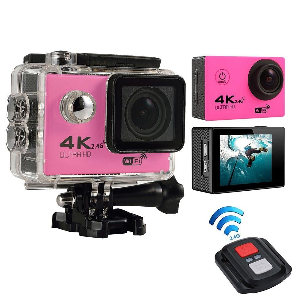 fuskm 4K HD Wifi Action Camera 2.0 Inch 170 Degree Wide Angle Lens Action Camera WIFI 4k Waterproof Sports Action Camera,Silver - intl