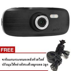 G1W กล้องติดรถยนต์ Novatek 96650+AR0330 Full HD 1080P WDR (สีดำ) + ขาจับแกนกระจกมองหลัง