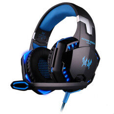 G2000 Deep Bass Game Headphone Stereo Surrounded Over Ear Gaming Headset With Led Light For Gamer Blue Black Each ถูก ใน จีน