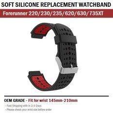 ส่วนลด สาย นาฬิกา สำหรับ Garmin Forerinner Forerunner 235 230 220 620 630 735Xt Soft Silicone Strap Replacement For Garmin Forerunner
