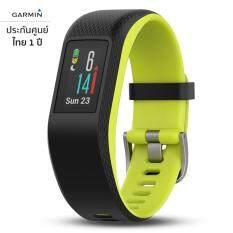 Garmin Vivosport (สีดำ-เขียว) ขนาด L สายรัดข้อมือ GPS ออกกำลังกายและฟิตเนส วัดอัตราการเต้นหัวใจที่ข้อมือ