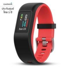 โปรโมชั่น Garmin Vivosport สีดำ แดง ขนาด S M สายรัดข้อมือ Gps ออกกำลังกายและฟิตเนส วัดอัตราการเต้นหัวใจที่ข้อมือ ไทย