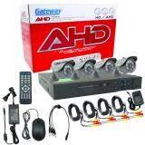 ซื้อ Gateway Ahd Cctv ชุดกล้องวงจรปิด 4 กล้อง Hd Ahd Kit 1 3 Mp J 866 สีดำ ถูก ใน กรุงเทพมหานคร