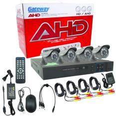 ราคา Gateway Ahd Cctv ชุดกล้องวงจรปิด 4 กล้อง Hd Ahd Kit 1 3 Mp J 866 สีดำ