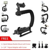 ทบทวน ที่สุด Gearbear 6 In 1 C Shape Rig Low Angle Position Steady Cam Handheld Stabilizer Handle Grip Smart Cellphone Holder Hot Shoe Gift Tripod Adapters Mount For Gopro Hero 6 5 4 Session 3 3 2 1 Sports Action Camera Dslr Camcorder Etc