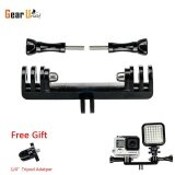ขาย Gearbear Tripod Bike Handle Bar Extension Double Bracket Brige Mount With 1 4 Inch Convertor For Led Light And Gopro Hero 6 5 4 Session 3 3 2 1 Sports Action Camera ใน จีน
