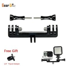 Gearbear Tripod Bike Handle Bar Extension Double Bracket Brige Mount With 1 4 Inch Convertor For Led Light And Gopro Hero 6 5 4 Session 3 3 2 1 Sports Action Camera ใหม่ล่าสุด