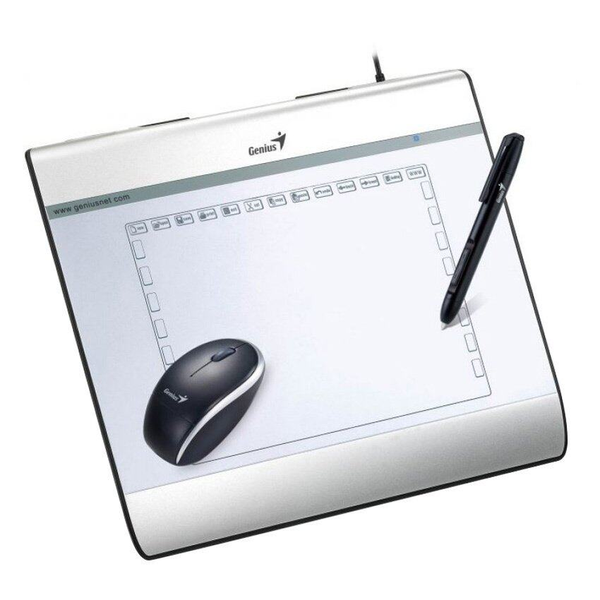 Genius Pen and Mouse Tablet For MousePen I608X