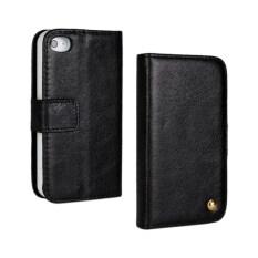 ขาย ซื้อ Genuine Leather 2 In 1 Separable Wallet Cover Detachable Back Phone Case With Card Slots And Stand Function For Apple Iphone 4 4S 4G Black จีน