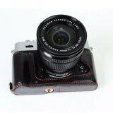 Genuine Leather Camera Case For Fujifilm Fuji Xt10 X T10 Xt20 Xt 20 Leather Camera Half Bag Body Set Bottom Cover Open Intl เป็นต้นฉบับ