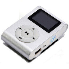 ซื้อ Getek 32Gb Micro Sd Tf Card Fm Radio Usb Mini Clip Mp3 Player Lcd Screen White
