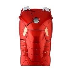 โปรโมชั่น Gift 3D Marvel Ironman Hard Back Cover Case Call Led Light Up Case For Iphone 6 Red Intl