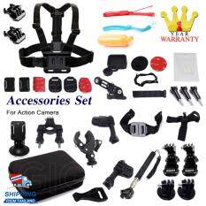 Gigabit Accessories Set With Bag for All Type of Action Cameras (Black)