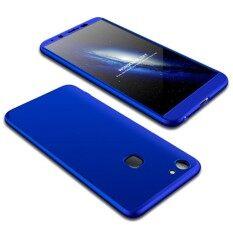ส่วนลด Gkk Vivo V7 พลัสพีซีสามย่อหน้า 360 องศาความคุ้มครองเต็มกล่องป้องกันกรณีปกหลัง สีฟ้า นานาชาติ ฮ่องกง