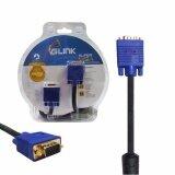 ส่วนลด Glink สายจอ 10เมตร Super Vga Rgb Projector Lcd Led Cable 3 6 Cable 10 M Glink
