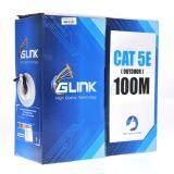 ราคา Glink สายแลนนอกอาคารคุณภาพดี แบบกล่อง 100เมตร Utp Cable Cat5E Outdoor 100M สีดำ ใหม่ล่าสุด