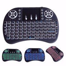 Glink Mini Keyboard คีย์บอร์ดไร้สาย พิมพ์ไทยได้ มีไฟ 3สี รุ่น Gkb-220 Black (สีดำ).