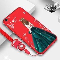 ขาย Glitter Beauty Case For Vivo X9 X9S V5 Plus Slim Flexible Tpu Rubber Cover With Bling Diamond Rhinestone Bumper Wrist Strap Red Green Skirt Intl ถูก จีน
