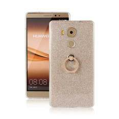 Glitter Stickers Ring Buckle Bracket Stand Glitter Soft Silicone Phone Cover Case For Huawei Mate 8 Gold Intl ใน จีน