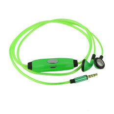 ราคา Glow Led Dynamic Flashing Light Up Earphone Green Intl