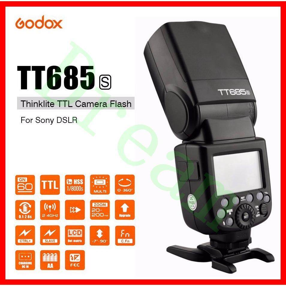 Godox TT685 TT685S 2.4G HSS 1/8000s TTL Camera Flash for S0ny A77II A7RII A7R A99 A58 A6500 A6000 A6300