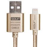 ส่วนลด Golf 2M Metal Quick Charge Data Cable สายชาร์จ Lightning สำหรับ Iphone Ipad Ipod สายถักยาว 2เมตร สีทอง Golf
