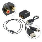 Good Digital Optical Coaxial Toslink ไปยัง Analog Audio Converter อะแดปเตอร์ Rca ถูก