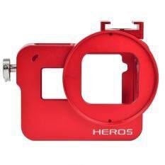 ราคา Gopro 5 Aluminum Alloy Protective Case Red ออนไลน์
