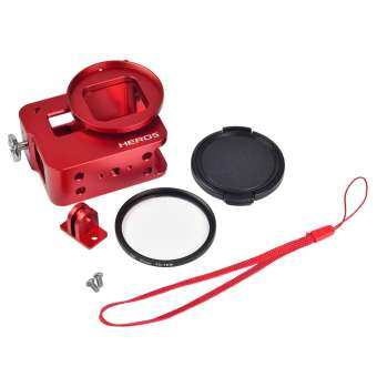 GoPro 5 Aluminum Alloy Protective Case(Red)
