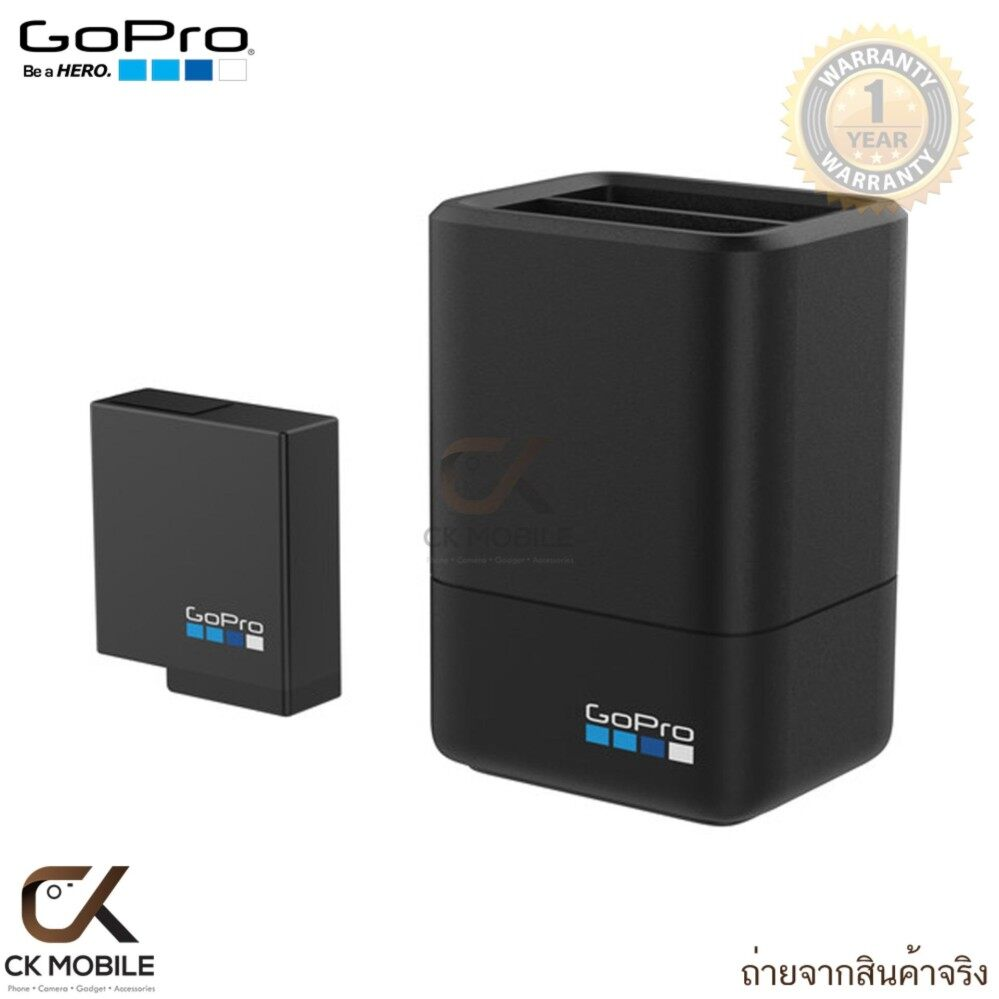 GoPro Dual Battery Charger with Battery For HERO5/HERO6 Black ขึ้นไป