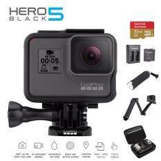 Gopro Hero 5 Black Extra Memory Sandisk extreme 32GB , ทุ่นลอยน้ำ , Battery and Dual Cahrger Kingma , Hero Waterproof Bag and OEM 3 Way