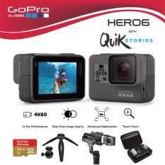 GoPro Hero 6 Black มาพร้อม เมมโมรี่ 32 GB, ขาตั้งกล้อง XS-20, zhiyun smooth-Q, Adapter และ กระเป๋ากันกระแทก
